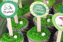 Golf Party / Golf party inspiration! • Blog posts:www.bitly.com/golf_parties • Products: http://www.chickabug.com/shop-by-theme/golf-party