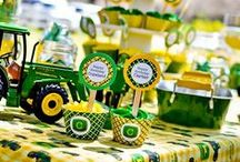 John Deere Tractor Party / John Deere Tractor party inspiration! • Blog posts: www.bitly.com/tractor_parties • Products: http://www.chickabug.com/blog/tractor_theme / by Chickabug