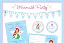 Mermaid Party / Mermaid party inspiration! • Products: http://www.chickabug.com/shop-by-theme/mermaid-party