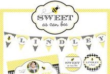 Bumblebee Party / Bumblebee party inspiration! • Blog posts: www.bitly.com/bumblebee_parties • Products: http://www.chickabug.com/shop-by-theme/bumblebee-party / by Chickabug