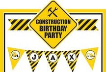 Construction Party / Construction party inspiration! • Products: http://www.chickabug.com/shop-by-theme/construction-party