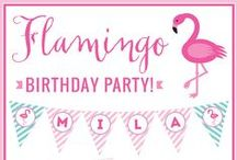 Flamingo Party / Pink Flamingo party inspiration! • Products: http://www.chickabug.com/pink-flamingo-party