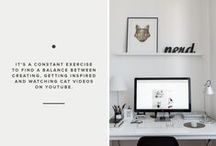 Home: Office / Office supplies, office furniture, home office inspiration, gadgets, office layout