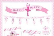Ballet Party / Ballet party inspiration! • Products: http://www.chickabug.com/shop-by-theme/ballet-party