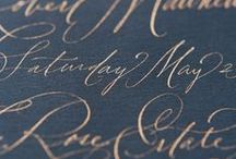 Calligraphy / Calligraphy, modern calligraphy, brush pen calligraphy, pointed pen, flourishing, copperplate