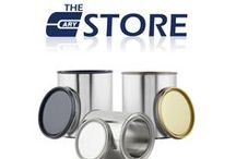 Our Products: Paint Cans / Plastic paint cans, hybrid paint cans, tin paint cans. Gold lined cans can be used for food as long as the food is packaged prior to placing in can. For more information on product compatibility, please call 630-629-6600 or visit our e-store at www.thecarystore.com.