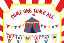 Carnival or Circus Party / Carnival or Circus party inspiration! • Products: http://www.chickabug.com/shop-by-theme/carnival-or-circus-party / by Chickabug