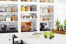 Kitchen Organization / Simple ideas to help keep your kitchen area organized. Check out www.thecarystore.com to purchase many of these products from your home.