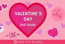 Valentine's Day Online Unit Study / Extended learning activities for Valentine's Day Online Unit Study.
