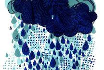 Sous la pluie / All things rain.