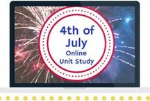 4th of July Unit Study / Extended learning activities for 4th of July Online Unit Study.