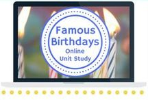 Biography Unit Study / Extended learning activities for Famous Birthdays Online Unit Study.