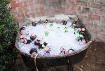 Party juhlaa ruokaa drinks