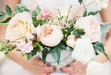 White + Cream + Blush / Floral inspiration for a white, cream, and blush color palette.
