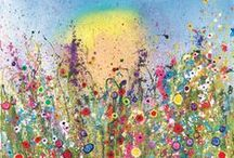 Flower Art Giclee prints by Yvonne Coomber / These exceptionally beautiful fine art flower limited edition giclee prints are produced by our master Printer here in Devon. Each print is titled and signed by Yvonne Coomber and as always is sprinkled with love. We also give the option of a white or oak frame.