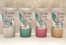 Sip & Dazzle Tumblers / 20 oz double wall acrylic personalized tumbler with straw. Tumblers are high quality and they do not come from the dollar store. Perfect for anybody who likes to have their favorite beverages on the go. Its double wall insulation feature keeps your drinks at the right temperature. This is a great gift for anyone.
