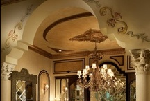 Aventura, Florida / Splendid Old World interiors by Perla Lichi for prominent South Florida builder's own home.