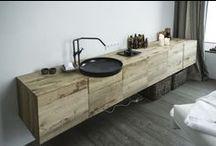 Bathroom / Bathroom furniture and material ideas