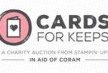 Stampin up cards for keeps / Stampin up cards made by celebrities to be auctioned in aid of Coram supporting children in the UK