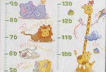 punto croce - metri crescita per bambini
