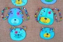 ilfiorecreativo - home decor / Colorful items in ceramic and colored beads to hang on the wall
