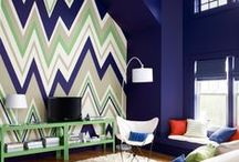 Accent Walls and Ceilings / Add a pop of color with Benjamin Moore paints!