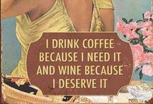Coffee & Wine / We love our coffee here at Paintpourri. And our wine - we even make our own!