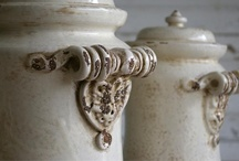 Antico Bianco Italian Pottery / Wild Olive's renaissance inspired ceramic art of Tuscany Italy.Unique in style and tradition, each ceramic sculpture is hand prepared using original techniques handed down through generations of Italian artisan families. The producing family has over 120 years of experience in hand made ceramic art.  Antique distressing and slight size differences are intentional on the part of the artisan, thus providing you with a unique creation of history and art. / by Bella Marie