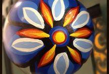 Hand Painted Ornaments / https://www.etsy.com/shop/vesnadelevska?section_id=16478084&ref=shopsection_leftnav_6