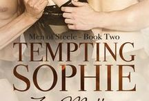 Novel - Tempting Sophie - Men of Steele Book Two /  Ben says he's willing to do whatever it takes to win back Sophie's love, but what if it's not enough. What Sophie needs will push Ben out of his comfort zone, and onto a whole new level of trust. (MMF, BDSM)  NOW AVAILABLE AT YOUR FAVORITE EBOOK RETAILER