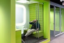 Privacy Please / Escape the hustle and noise of the office floor inside a telephone booth, pod, or behind privacy screen.