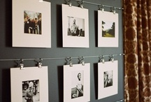 photos on hook / it is how to make fulfil the wall with photos
