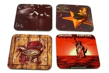 Coasters / High quality Coasters from HokeyCokey displaying some of the greatest bands around the world! These are pre-made but remember you can personalise your very own Coasters!  http://hokeycokey.biz/