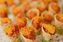 #Love #Bites and #Canapes / When choosing a venue a big question has to be about the food.  Here are some perfect looking canapes