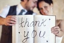 #Wedding #Thank #You #Card ideas / You ask a lot of your guests to attend a wedding, often they have to take a day off, buy a new outfit, rent a car, travel some distance, stay in a hotel for the night and on top of that bring a wedding gift, so don't forget to think about your Thank you card