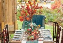 Tablescape Inspiration / Tables that are beautifully set and inviting, giving you inspiration for your next party.