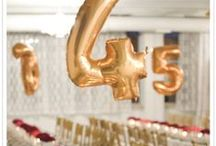 #Table #Numbers or #Names #Wedding / If you have a large #wedding party, after all that careful consideration as to who sits where, you will want to ensure that the guests find the right #table.  here are some great #table #number ideas
