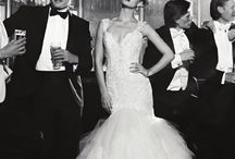 #Black #Tie #Wedding / Why do I love black tie weddings well for me they unit all the men and make the girls and womens dresses stand out, brilliant www.theweddingowl.com