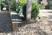 Majestic Trees / Our Aluminum Garden Edging used around an area called Majestic Trees.  Available @ YardProduct.com