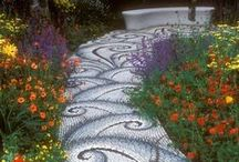 Whimsical Walkways / Walkway and Pathway ideas we like! Remember you can use our PRO Aluminum landscape edging, or our Decorative Stone Edging! Purchase your own today at Yardproduct.com / by Dreamscape: Yard Product
