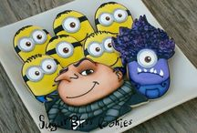 Minions/Despicable Me-Inspired Cookies, Cakes, Ideas... / Cookies, cakes, etc.  Inspirational decorating ideas for cookies, cakes, treats, crafts, etc.  / by Carmen Wills