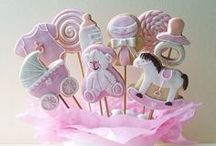 Baby Girl Cookies / Ideas for decorating cookies. See separate boards for carriages, onesies, etc. / by Carmen Wills