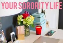 Guide for the Sorority Girl / College life can be tough! Here are some fun resources to help you stay organized and in control.