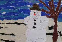 Knutselen winter / Knutselideeën voor de winter. Winter crafts for kids.