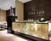 Body & Soul I Hyatt Dusseldorf / Pure relaxation and recreation across 485 sq m (5,209 sq ft)!  Five private treatment rooms, a whirlpool, a wet and a dry sauna are offered on two levels.    The gym is equipped with branded appliances from Technogym™ and offers a breathtaking view over the Media Harbour while working-out.