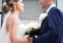 Weddings I Hyatt Dusseldorf / The wedding planner checks the decorations, the waiter the cutlery, the florist the flowers and the photographer is ready to take pictures; the location for your dream wedding is created. Enjoy your special day in a modern and elegant atmosphere on top of the peninsula at hotel Hyatt Regency Dusseldorf.