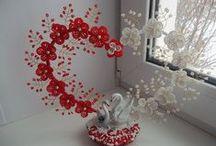 Gyöngyből virágok