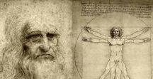 """LEO e gli uomi vitruviani / L'Uomo vitruviano è un disegno a penna e inchiostro su carta di Leonardo da Vinci,conservato nel Gabinetto dei Disegni e delle Stampe delle Gallerie dell'Accademia di Venezia. Celeberrima rappresentazione delle proporzioni ideali del corpo umano,dimostra come esso possa essere armoniosamente inscritto nelle due figure """"perfette"""" del cerchio,che rappresenta il Cielo,la perfezione divina,e del quadrato,che simboleggia la Terra. _____________________NO PIN LIMITS"""
