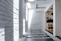 architecture / clean geometries, honest textures, and a flair of theatrics