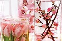 centrepieces / flowers, candles, tealights, mirrors etc